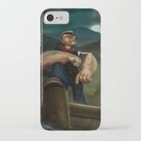 popeye iPhone & iPod Cases featuring Popeye by Geison Araujo