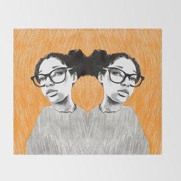 Nice new glasses Throw Blanket
