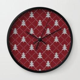 cozy christmas - sweater Wall Clock