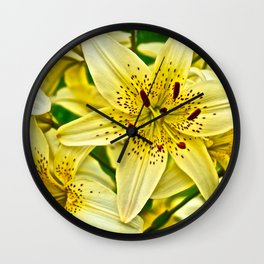 Yellow Tiger Lilies - The Flower Collection Wall Clock