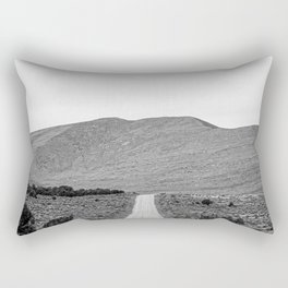 Road Outta Town // Black and White Landscape Photograph Going Out to Nowhere Peaceful Scenery Rectangular Pillow