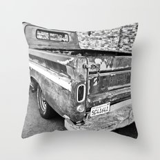 Nearing The End of the Road (B&W) Throw Pillow