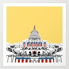 Inauguration Art Print