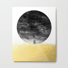 Lilitz  - sunset space modern minimal black and white abstract art decor canvas art for dorm college Metal Print