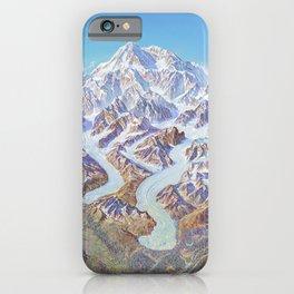 Heinrich Berann - Panoramic Painting of Denali National Park (1994) iPhone Case