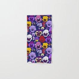 Pansy Flowers Spring Illustration Hand & Bath Towel