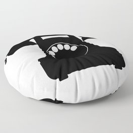 Traditional Telephone Icon Floor Pillow