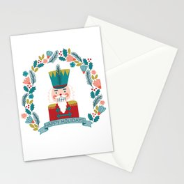 Nutcracker Christmas Floral Stationery Cards