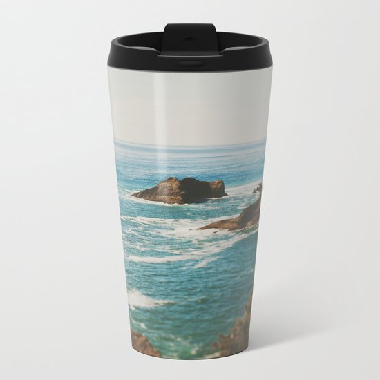 Oregon Coast Metal Travel Mug
