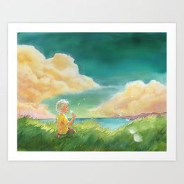 Dandelion Girl Art Print