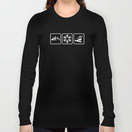 Cool Mountains Snow Snowboarding Shredding Shirt Long Sleeve T-shirt