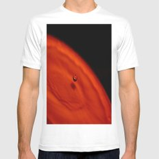 Water Drop White MEDIUM Mens Fitted Tee