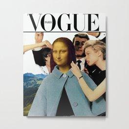Modern Mona Lisa Metal Print