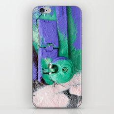 Purple and green lock iPhone & iPod Skin