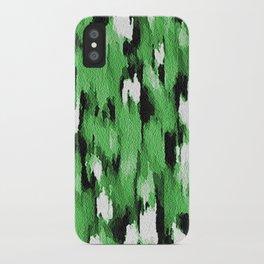 Green Leopard Pattern iPhone Case