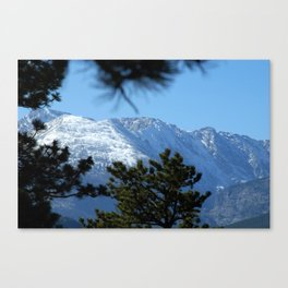 Snow Capped Mountain Canvas Print