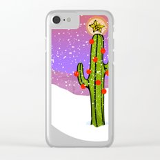 Christmas Cactus Clear iPhone Case