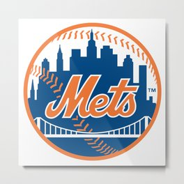 New Yorks Mets Metal Print