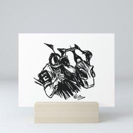 """On The Backstretch"" Horse Racing, Thoroughbred, Saratoga, EQUESTRIAN, Mini Art Print"