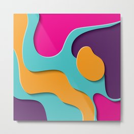 Paper Cutout 020 Metal Print