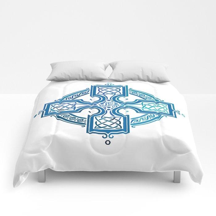 St. Patrick's Day Celtic Blue Cross Comforters