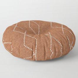 geometric diamonds - ginger Floor Pillow