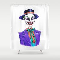 joker Shower Curtains featuring JOKER by ReadThisVA