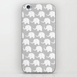 Elephant Parade on Grey iPhone Skin