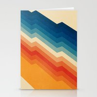 pink floyd Stationery Cards featuring Barricade by Tracie Andrews