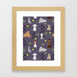 Happy Puppies Framed Art Print