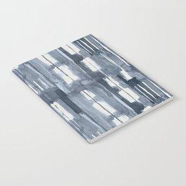 Simply Shibori Lines in Indigo Blue on Lunar Gray Notebook