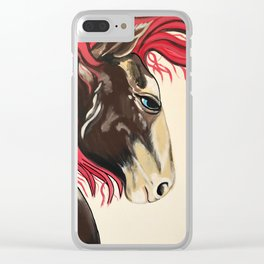Cinnamon Horse by Noelles's Art Loft Clear iPhone Case