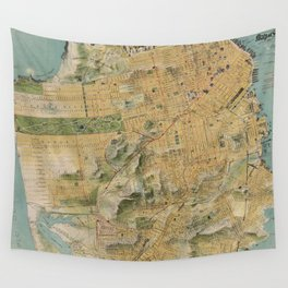 Vintage Map of San Francisco (1915) Wall Tapestry