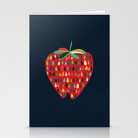 strawberry Stationery Cards featuring Strawberry by Picomodi