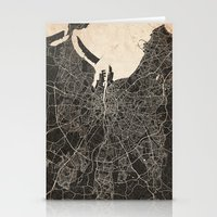 dublin Stationery Cards featuring dublin map by NJ-Illustrations