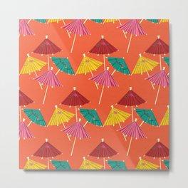 Tiki Umbrella Pattern Metal Print