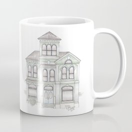 Green Italianate Victorian Coffee Mug
