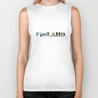finland Biker Tanks featuring Finland by Valeria Marelli