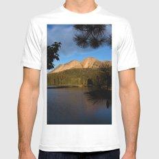 Manzanita Lake Lassen Volcanic National Park Landscape Mens Fitted Tee MEDIUM White