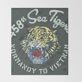 458th Sea Tigers Throw Blanket