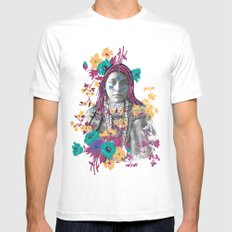 Indian girl White Mens Fitted Tee MEDIUM