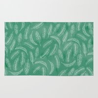 banana leaf Area & Throw Rugs featuring Banana Leaf by Make-Ready