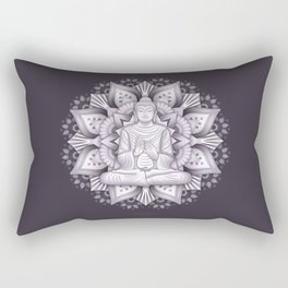 Black Mandala Rectangular Pillow