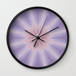 Pink and Lilac 3D Flower Three Wall Clock