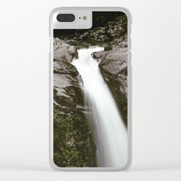 PNW Waterfall Clear iPhone Case