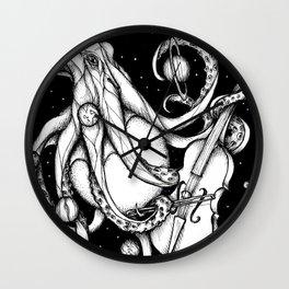Cosmic Octopus Wall Clock