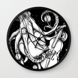 Cosmic Octopus Wall Clock