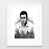 snl Framed Art Prints featuring DARK COMEDIANS: Adam Sandler by Zombie Rust