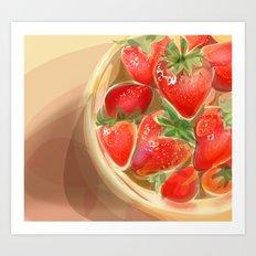 fraises. Art Print