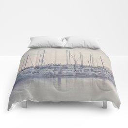 Sunset at the Marina Comforters